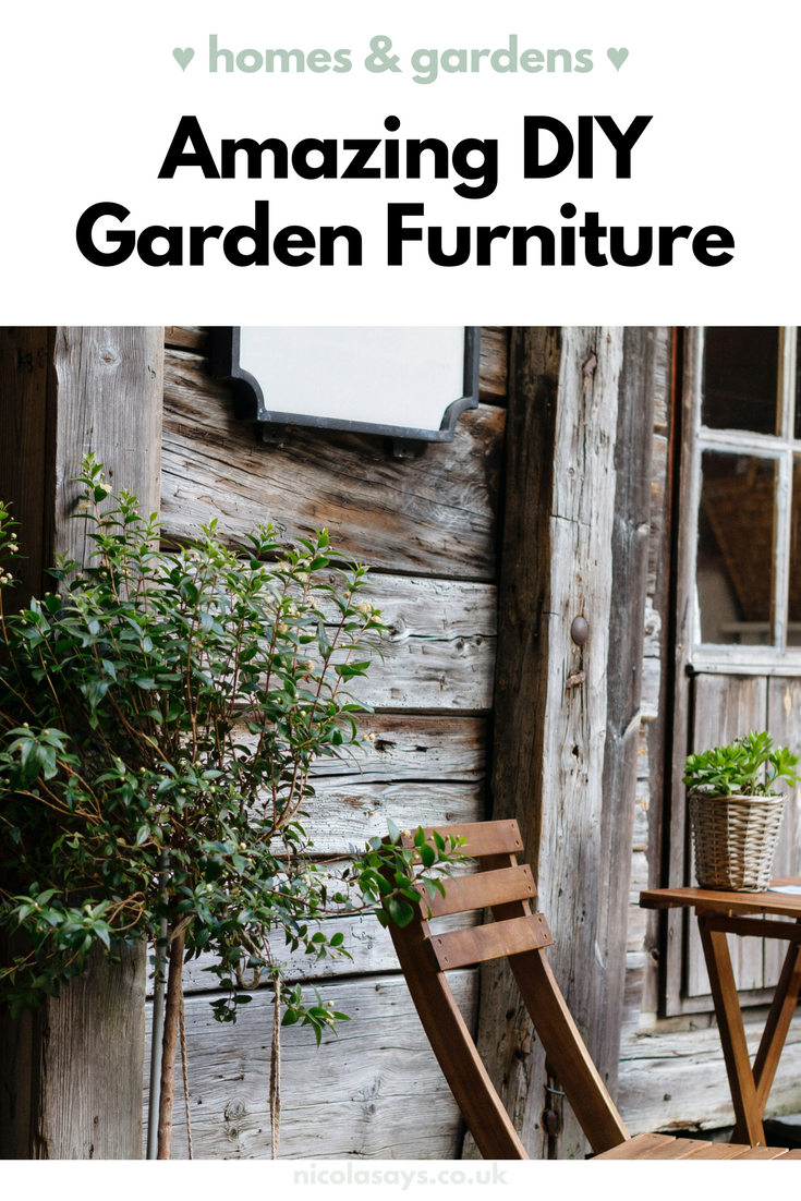 Have you seen these amazing DIY garden furniture ideas?