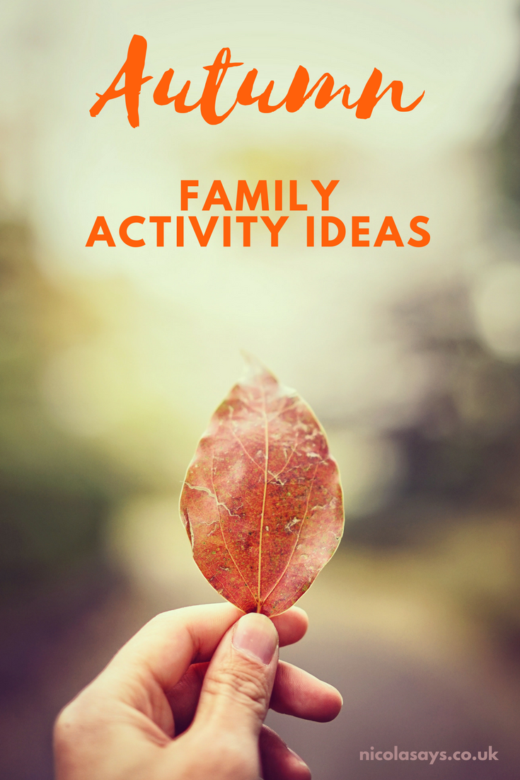 Autumn family activity ideas - my list of 20 activities to try this Autumn to make it more fun and memorable. More inspiration at nicolasays.co.uk