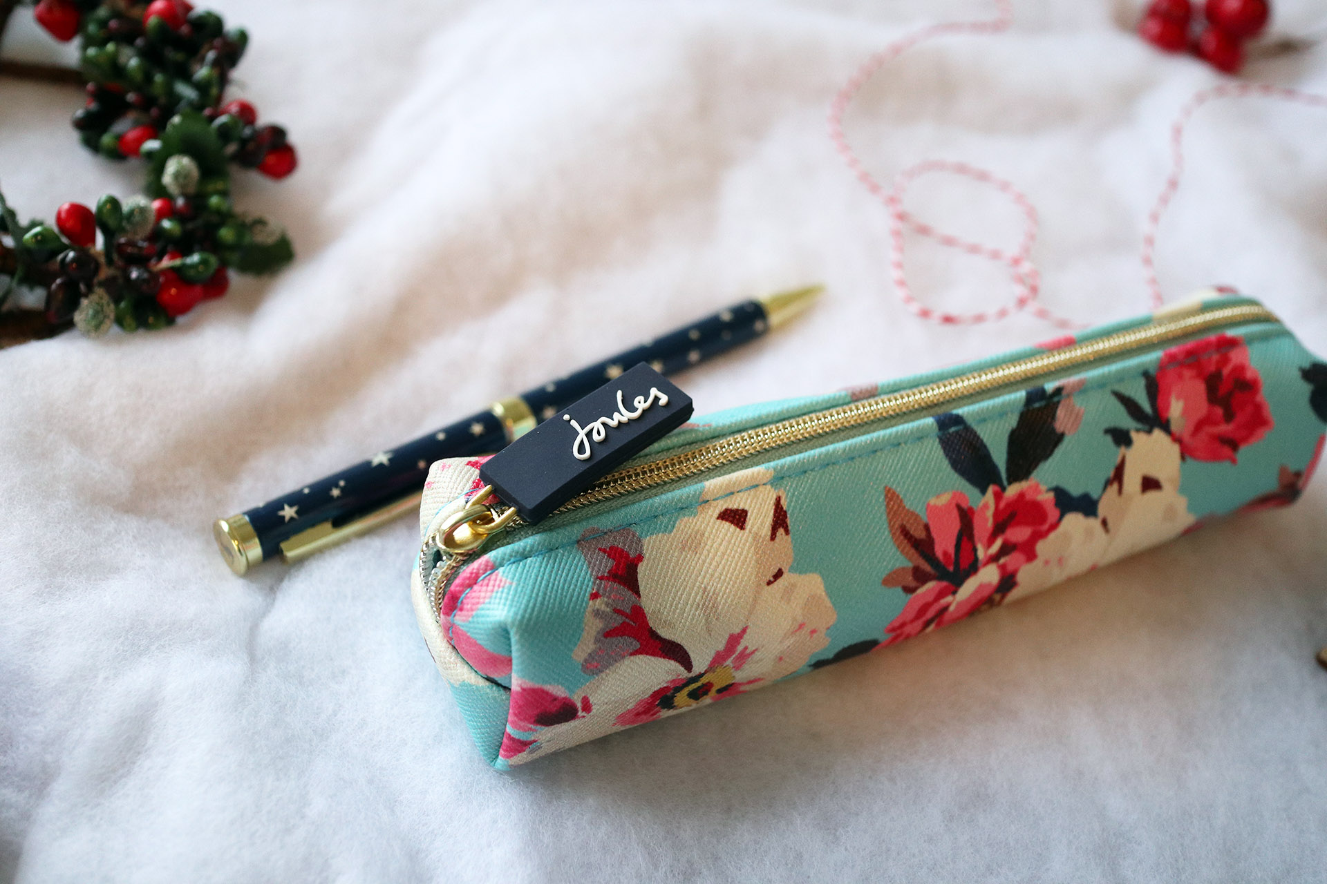 Close up of Joules pen set - one of my favourite Boots Christmas gifts