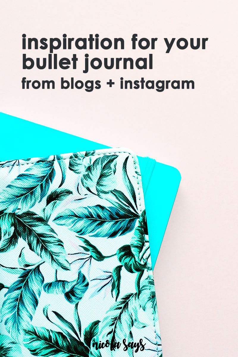 Inspiration for your bullet journal - inspiring bloggers and Instagrammers share their tips, tricks and beautiful layouts and bullet journal setups.