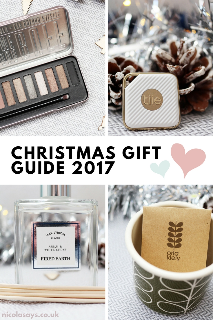 Christmas Gift Guide 2017. Find the perfect gift for your best friend, mum, partner or loved one in my Christmas gift guide. Full of ideas from technology gifts to calendars to candles and makeup.