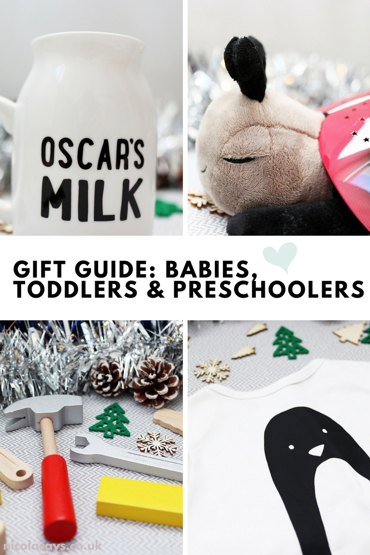 Christmas Gift Guide For Kids - A gift guide for babies, toddlers and preschoolers featuring toys, clothing, homeware and personalised gift ideas. Shop my Christmas present ideas at nicolasays.co.uk