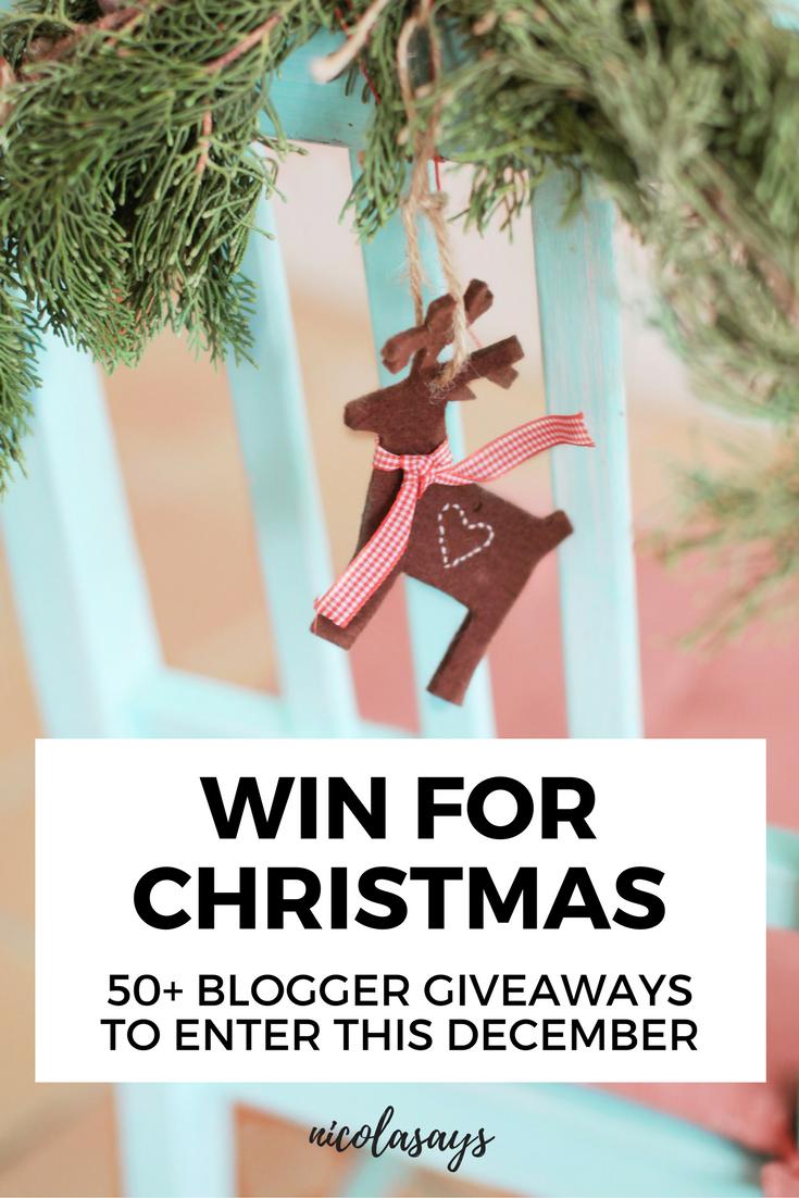 Uk giveaways for christmas