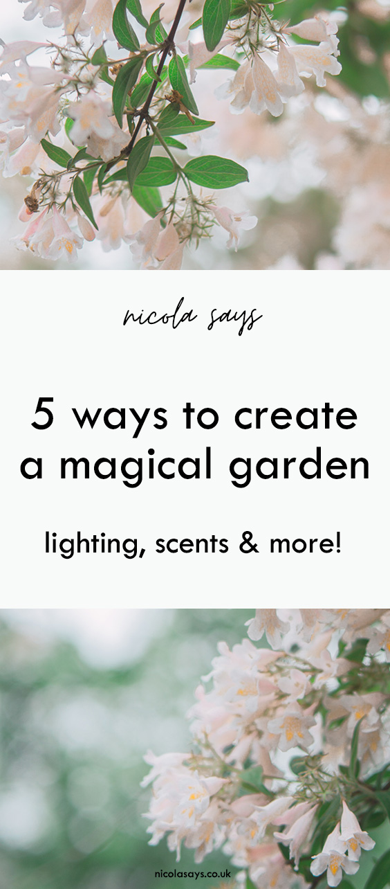 Discover how to create a magical garden at home on a budget with lighting ideas, scented candles and plants, textiles and more!