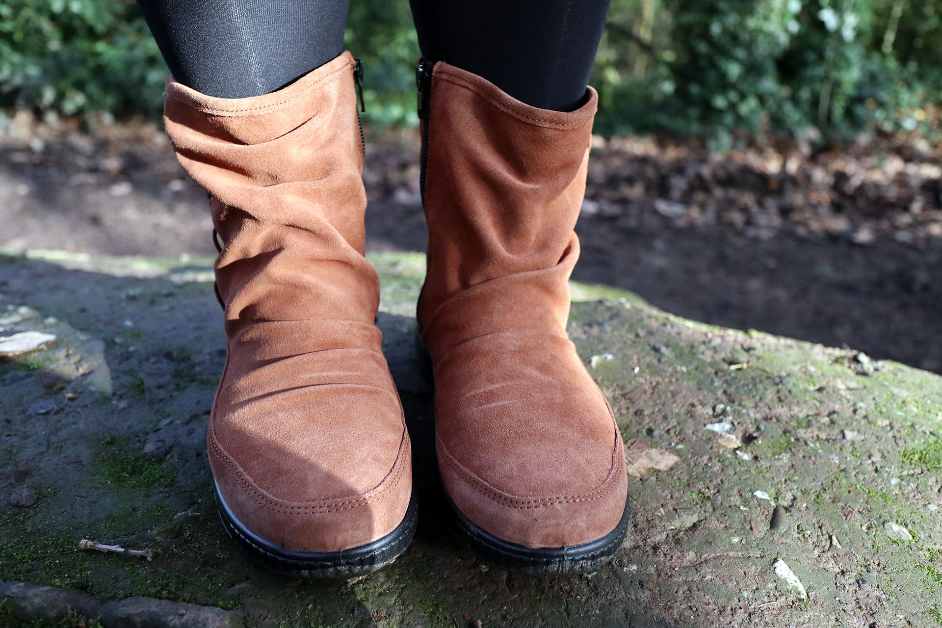 Hotter Shoes Pixie Boots in Dark Tan