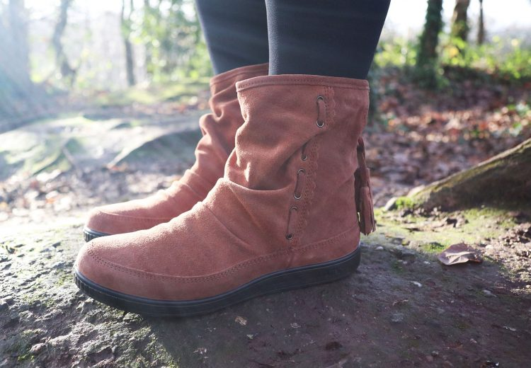 Hotter Shoes - Pixie boots in dark tan