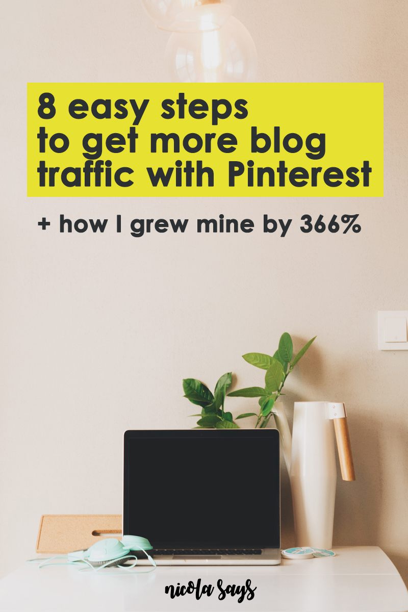 How I Grew My Pinterest Traffic By 366% - Discover the simple steps I took to grow my traffic from Pinterest by 366%. Tips for getting more readers from Pinterest.