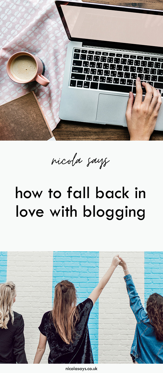 How to fall back in love with blogging. Stuck in a rut? Have writer's block? Here are seven ways to find your love for your blog again #blog #blogging #bloggingtips #writing