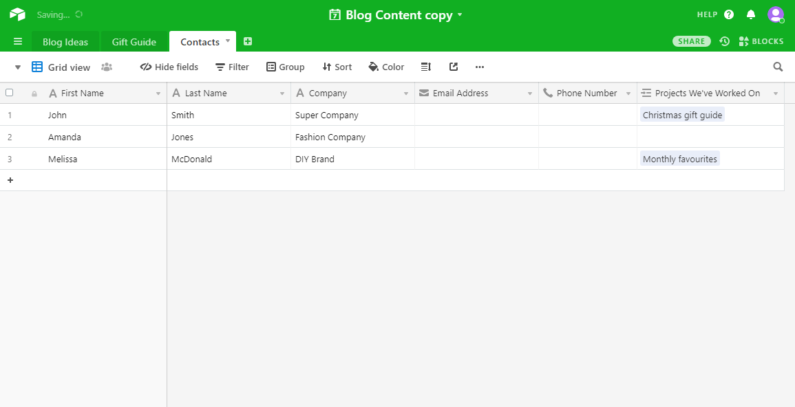How to store your blog contacts in Airtable
