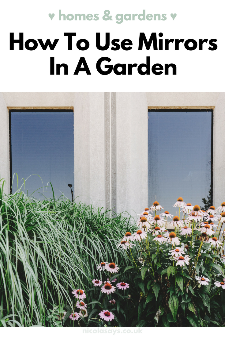 Inspiration on how to feature mirrors in your garden at home