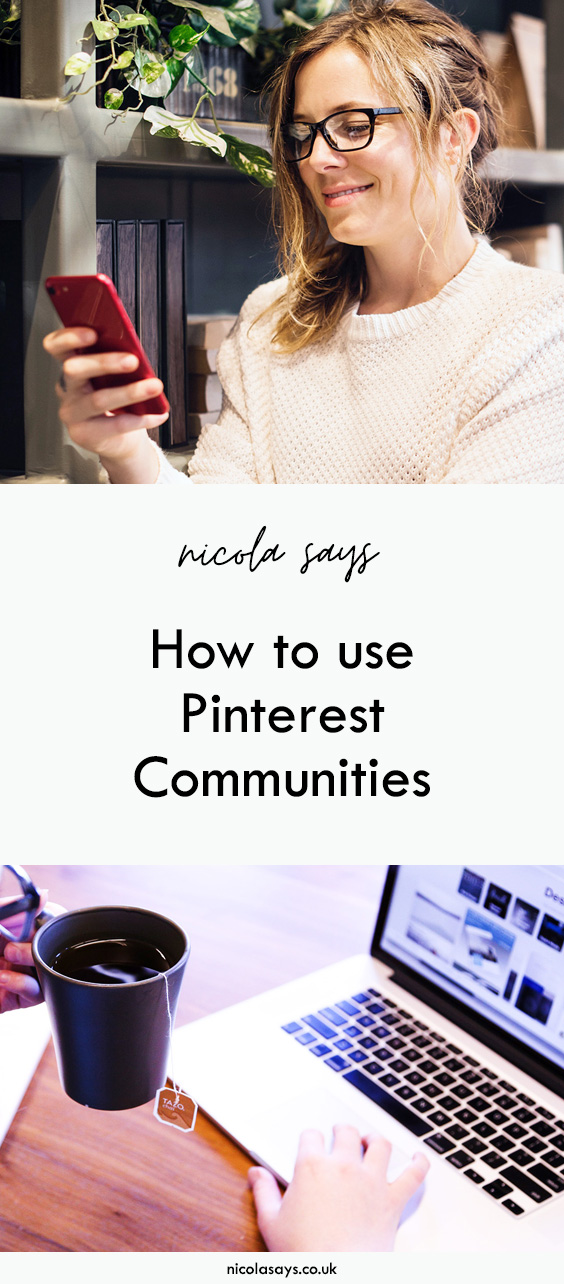 How to find, join, and create Pinterest Communities. Discover more about Pinterest's new communities feature and find out how to use it as a pinner and a blogger. Read the guide and get your invite at nicolasays.co.uk