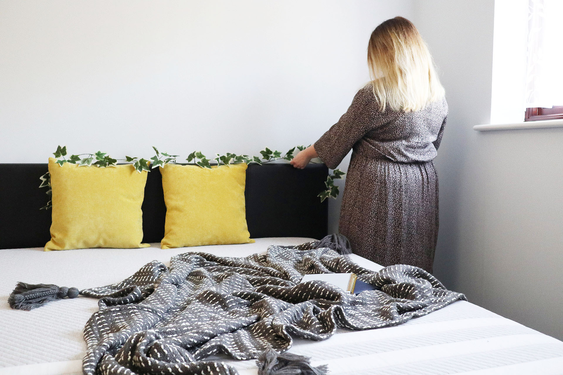Styling our new bedroom, which features our new Leesa mattress