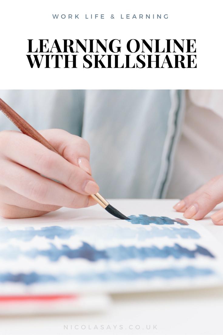 Learning new skills online with Skillshare