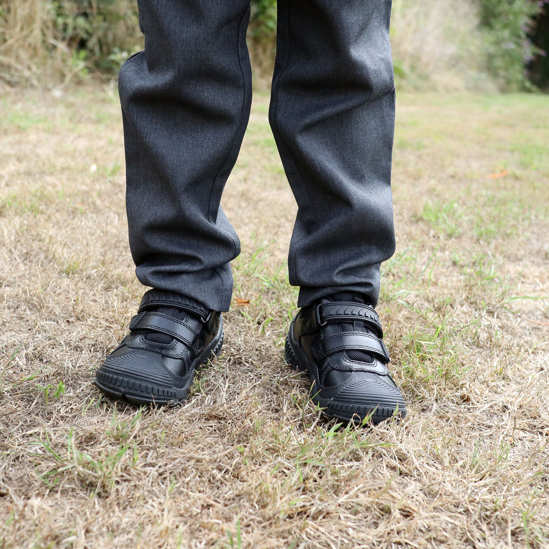 Child wearing school uniform and Start-Rite Extreme school shoes
