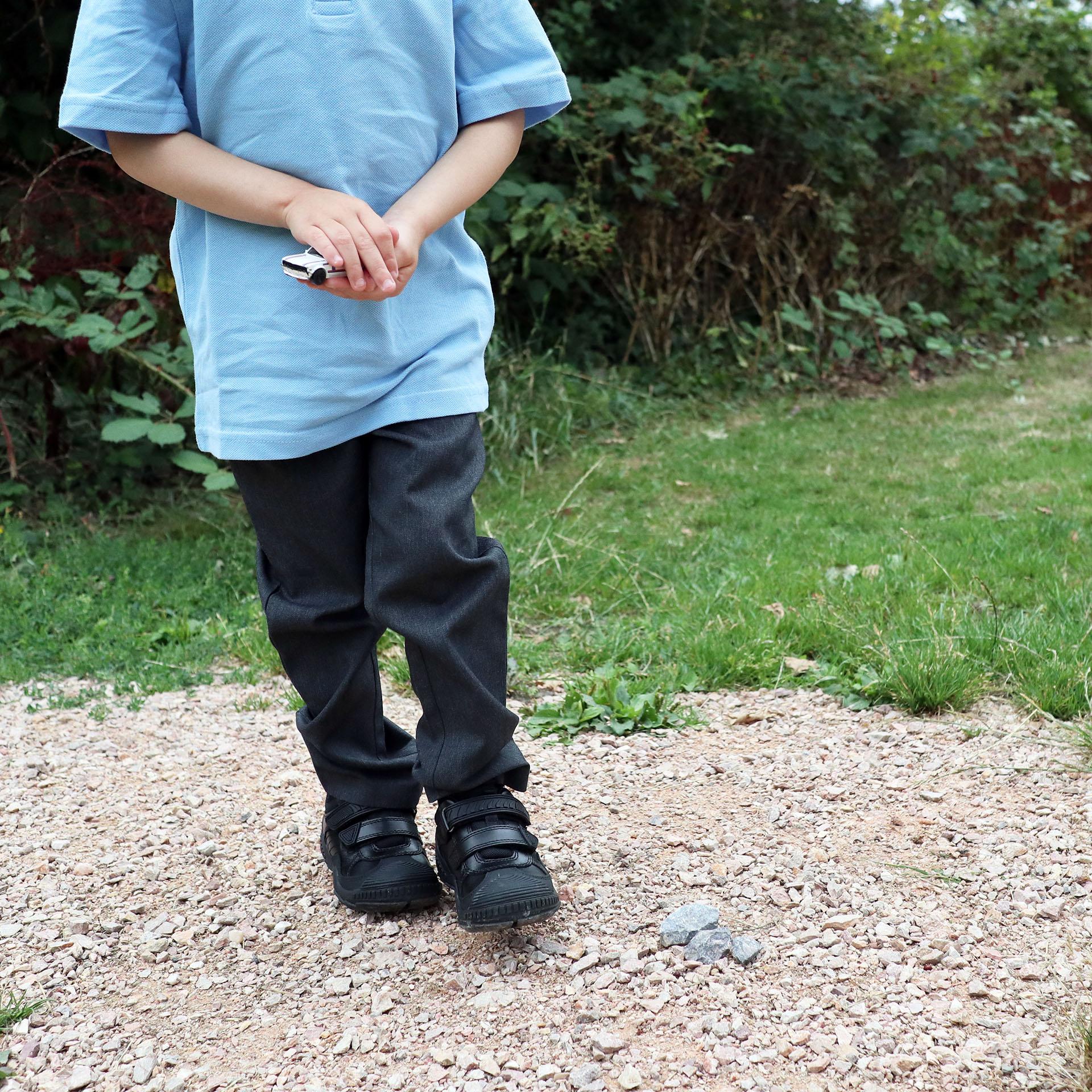 Child in school uniform wearing Start-Rite Extreme school shoes
