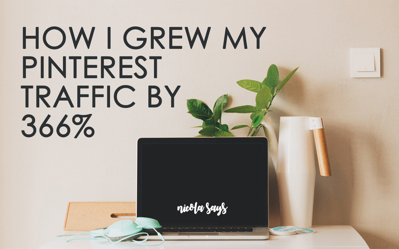 Discover the simple steps I took to grow my traffic from Pinterest by 366%. Tips for getting more readers from Pinterest.